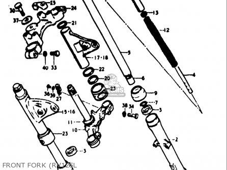 Suzuki Rv125 1973-1977 (usa) parts list partsmanual partsfiche