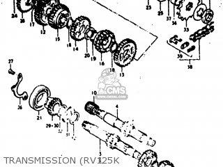 Suzuki RV125 1975 (M) USA (E03) parts lists and schematics
