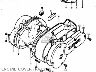 Suzuki Rv125 1977 (b) Usa (e03) parts list partsmanual