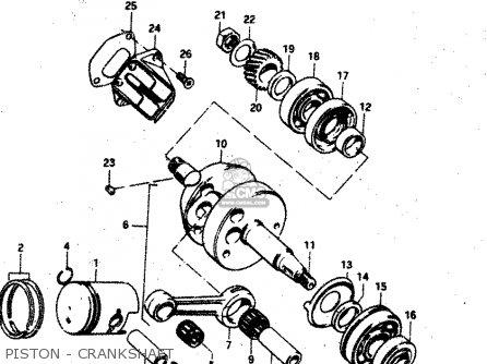 Suzuki Rv50 1981 (x) (e01) parts list partsmanual partsfiche