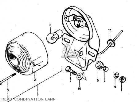 Suzuki Rv50 1981 (x) parts list partsmanual partsfiche
