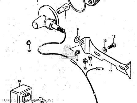 Suzuki RV50 1983 (D) (E01) parts lists and schematics