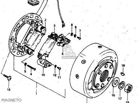 Suzuki Rv50 1983 (d) parts list partsmanual partsfiche