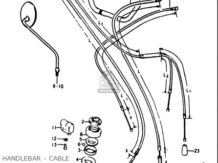 Suzuki Rv90 1972 (j) Usa parts list partsmanual partsfiche