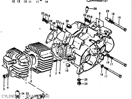 Suzuki Rv90 1972 (usa) parts list partsmanual partsfiche