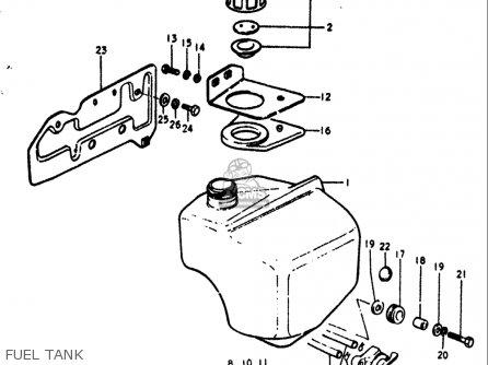 Suzuki Rv90 1972 (usa) parts list partsmanual partsfiche