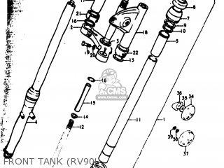 Suzuki Rv90 1973 (k) Usa (e03) parts list partsmanual