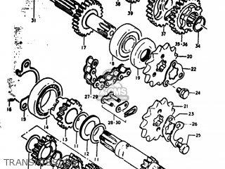 Suzuki RV90 1973 (K) USA (E03) parts lists and schematics