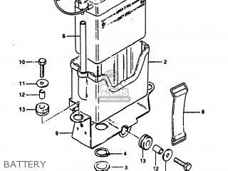 Suzuki SP100 1983 (D) USA (E03) parts lists and schematics