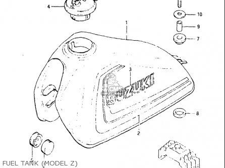 Suzuki Sp125 1982-1983 (usa) parts list partsmanual partsfiche