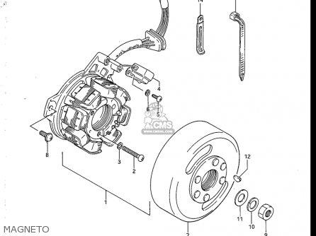Suzuki Sp125 1986-1988 (usa) parts list partsmanual partsfiche