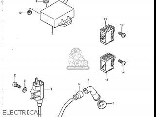 Suzuki SP125 1986 (G) USA (E03) parts lists and schematics