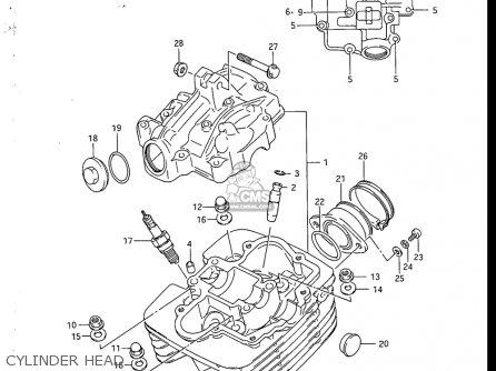 Suzuki Sp200 1986-1988 (usa) parts list partsmanual partsfiche