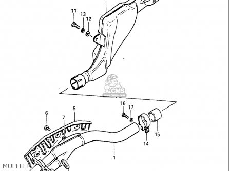 Suzuki Sp250 1982-1983 (usa) parts list partsmanual partsfiche