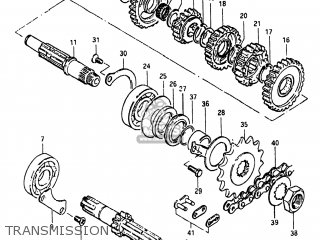 Suzuki Sp250 1982 (z) Usa (e03) parts list partsmanual