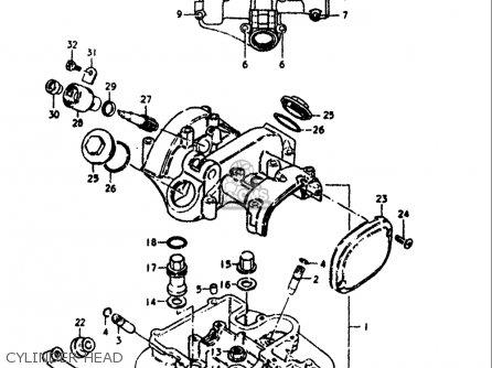 Suzuki Sp370 1978 1979 (c) (n) Usa (e03) parts list