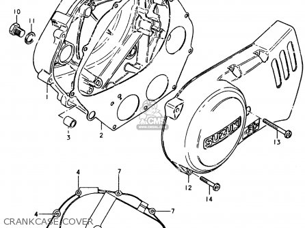 Suzuki Sp370 1978 (c) parts list partsmanual partsfiche