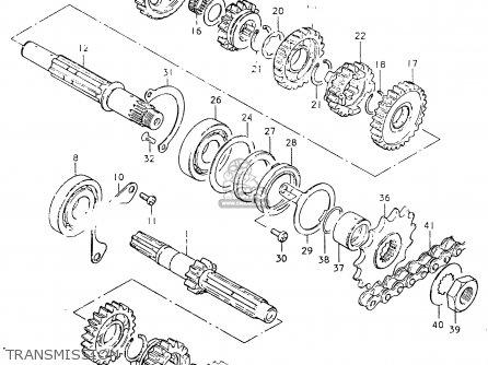 Suzuki Sp400 1980 (t) parts list partsmanual partsfiche