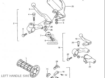 Suzuki SP600 1985 (F) USA (E03) parts lists and schematics