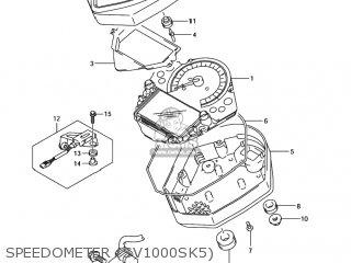 Suzuki SV1000 2003 (K3) USA (E03) parts lists and schematics
