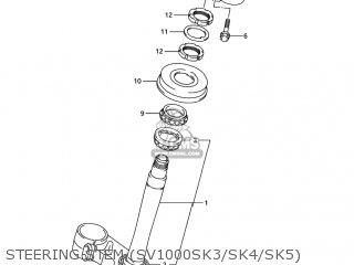 Suzuki Sv1000 2003 (k3) Usa (e03) parts list partsmanual