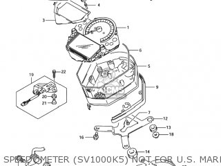 Suzuki SV1000 2004 (K4) USA (E03) parts lists and schematics