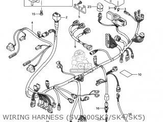 Suzuki SV1000 2004 (K4) USA (E03) parts lists and schematics