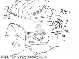 Suzuki Sv1000 2005 (k5) Usa (e03) parts list partsmanual