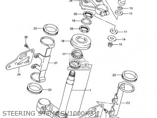 Suzuki SV1000 2005 (K5) USA (E03) parts lists and schematics