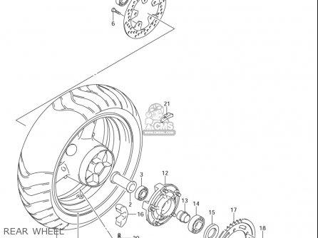 Suzuki Sv1000 S (usa) parts list partsmanual partsfiche