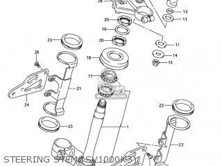 Suzuki SV1000S 2003 (K3) USA (E03) parts lists and schematics