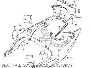 Suzuki Sv1000s 2006 (k6) Usa (e03) parts list partsmanual