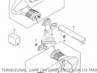 Suzuki SV1000S 2007 (K7) USA (E03) parts lists and schematics