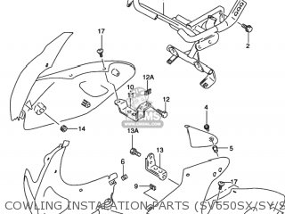 Suzuki SV650 1999 (X) USA (E03) parts lists and schematics