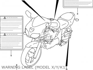 Suzuki Sv650 1999 (x) Usa (e03) parts list partsmanual