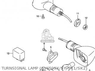 Suzuki SV650 2000 (Y) USA (E03) parts lists and schematics
