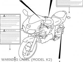 Suzuki SV650 2001 (K1) USA (E03) parts lists and schematics