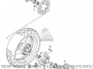 Suzuki Sv650 2003 (k3) Usa (e03) parts list partsmanual