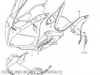 Suzuki SV650 2004 (K4) USA (E03) parts lists and schematics