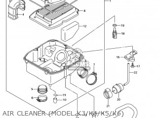 Suzuki SV650 2005 (K5) USA (E03) parts lists and schematics