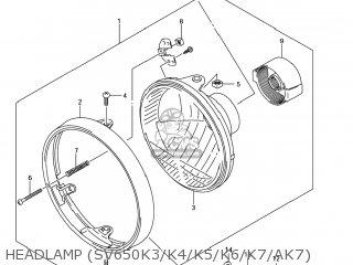 Suzuki Sv650 2007 (k7) Usa (e03) parts list partsmanual
