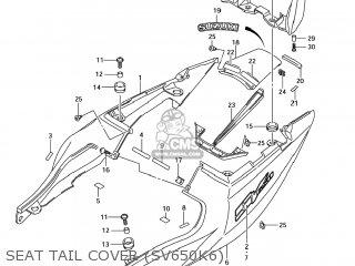 Suzuki Sv650s 2005 (k5) Usa (e03) parts list partsmanual