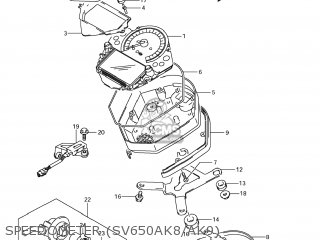 Suzuki SV650S 2008 (K8) USA (E03) parts lists and schematics