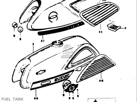Suzuki T125ii 1971 (r) Usa parts list partsmanual partsfiche