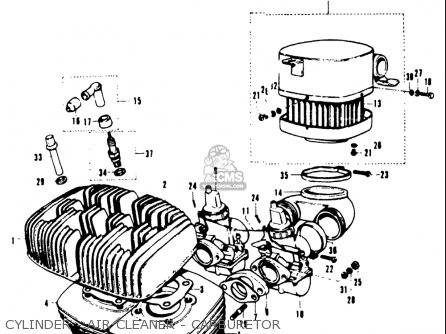 Suzuki T20 Tc250 1969 (usa) parts list partsmanual partsfiche
