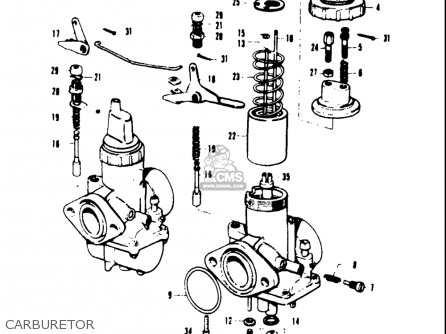 Suzuki T20 Tc250 1969 Usa (e03) parts list partsmanual