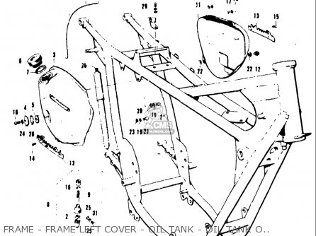 Suzuki T20 Tc250 1969 (usa) parts list partsmanual partsfiche