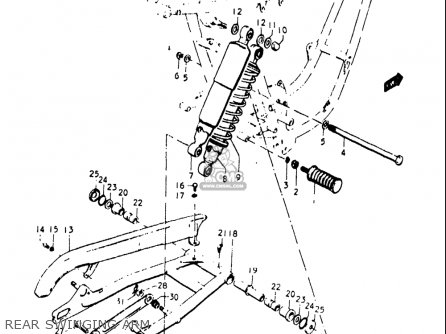 Suzuki T500 1,2,3 1968-1970 (usa) parts list partsmanual