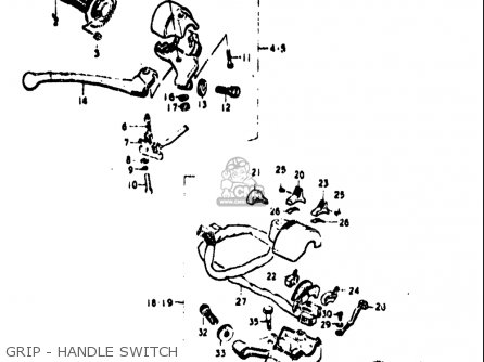 Suzuki Tc100 1973-1977 (usa) parts list partsmanual partsfiche