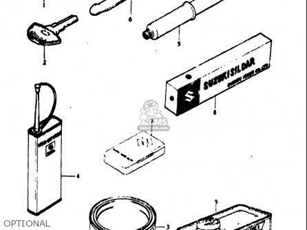 Suzuki Tc100 1973-1977 (usa) parts list partsmanual partsfiche
